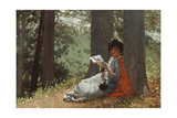 Girl Reading under an Oak Tree  1879