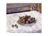 Still Life  Prunes on a Plate  C1884