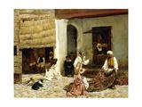 A Rug Bazaar in Tangiers  1878