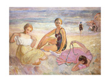 Three Women on the Beach; Trois Femmes a La Plage