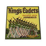 King's Cadets California Green Asparagus Label