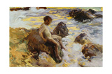 Boy in the Breakers  Javea  1900