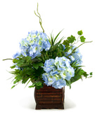 Blue Hydrangeas Planter