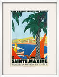 Sainte Maxime  Cote De Azure French Travel Poster