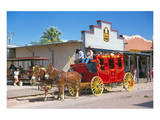 Old stagecoach at the western town Tombstone  Arizona  USA