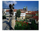 Mala strana Baroque garden  Prague  Central Bohemia  Czech Republic