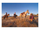 Ranchers with their horses  Horseshoe Working Ranch  Arizona  USA