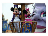 Parade in the Main Street U.S.A., Disneyland Resort Paris, Ile-de-France, France Reproduction d'art