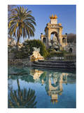 Fountain in the Parc de la Ciutadella in Barcelona  Catalonia  Spain