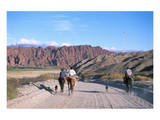Gauchos in Quebrada de las Flechas near Salta  Argentina