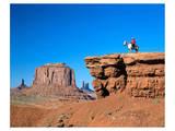 Cowboy at Monument Valley  Navajo Tribal Park  Arizona  USA
