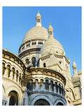 Cupolas of Sacre Coeur Basilica at Montmartre  Paris  Ile de France  France