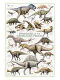Dinosaurs, Cretaceous Period Reproduction d'art