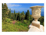 Crater at Hanbury Botanic Gardens near Ventimiglia  Province of Imperia  Liguria  Italy