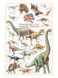 Dinosaurs, Jurassic Period Reproduction d'art