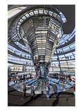 Inside the Dome of the Reichstag Building  Berlin  Germany