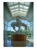 Statue in the National Cowboy Hall of Fame  Oklahoma City  Oklahoma  USA