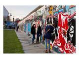 Remains of the Berlin Wall at the East Side Gallery in Berlin  Germany