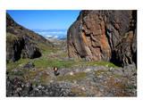 Trial to Kangia Fjord near Ilulissat  Disko Bay  West Coast  Greenland
