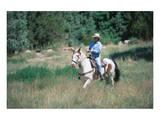 Rider at Bishop's Lodge in Santa Fe  New Mexico  USA
