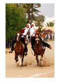 Fantasia  equestrian games in Midoun  Jerba Island  Medenine  Tunisia