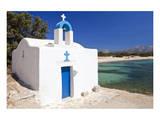 Agios Ioannis Chapel on the Beach of Aliko  Island of Naxos  Cyclades  Greece