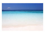 Beach on Ihuru Island  North Male Atoll  Maldives