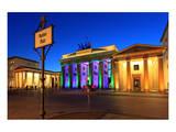 Festival of Lights  Brandenburg Gate at Pariser Platz  Berlin  Germany