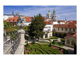 Baroque Garden of Vrtba Palace at Prague Lesser Town  Central Bohemia  Czech Republic