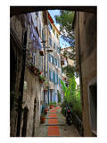 Alley in the Old Town of Ventimiglia  Province of Imperia  Liguria  Italy