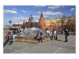 Manege Square with State Historical Museum  Moscow  Russia