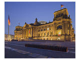 Reichstag in the evening  Berlin  Germany