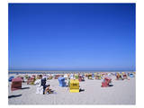 Beach chairs on Nordstrand  Langeoog  East Frisian Islands  Lower Saxony  Germany