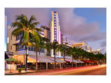 Breakwater Hotel on Ocean Drive in the Art Deco District of South Miami Beach in Miami
