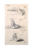 Female Figure in Three Different Positions
