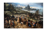 Harbour Scene with Christ Preaching  1598