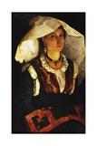 Woman in Sardinian Costume  Ca 1875