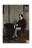 Painter Cristiano Banti at Harmonium