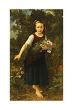 Little Girl by the Brook Holding a Sheaf of Flowers  1886