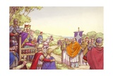 Augustine Facing King Ethelbert and His Queen  Bertha
