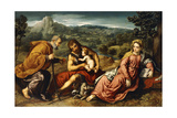 The Holy Family with Saint John the Baptist in a Landscape  1545-50