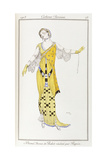 Parisian Clothing: Dione-Drawing by Bakst Executed by Paquin  1913