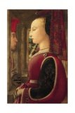 Portrait of Lady with Man at Window Sill  1435-1445