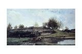 Sluice in Optevoz Valley  1855