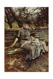 In Garden or Alaide and Ottavio Banti  Circa 1884