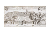 Christ Church College  Oxford  from 'Oxonia Illustrated'  Published 1675