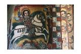 St George and Dragon  Fresco  Church of Narga Selassie