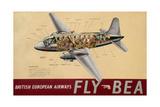 Poster Advertising 'British European Airways'  C1950