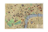 Map of the Heart of London  Published by Francis Chichester