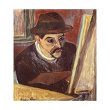 Maurice Utrillo in Front of His Easel